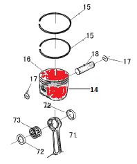 Замена поршневой группы на китайской бензопиле 45-52см³.