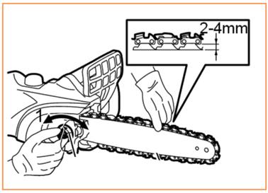 правильная натяжка цепи на бензопиле