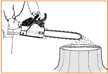 проверка подачи масла на шину