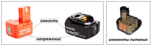 емкость и вольтаж батареи на шуруповерт