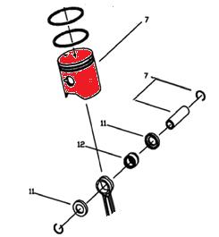Замена поршневой группы бензопилы Partner 340s-360s