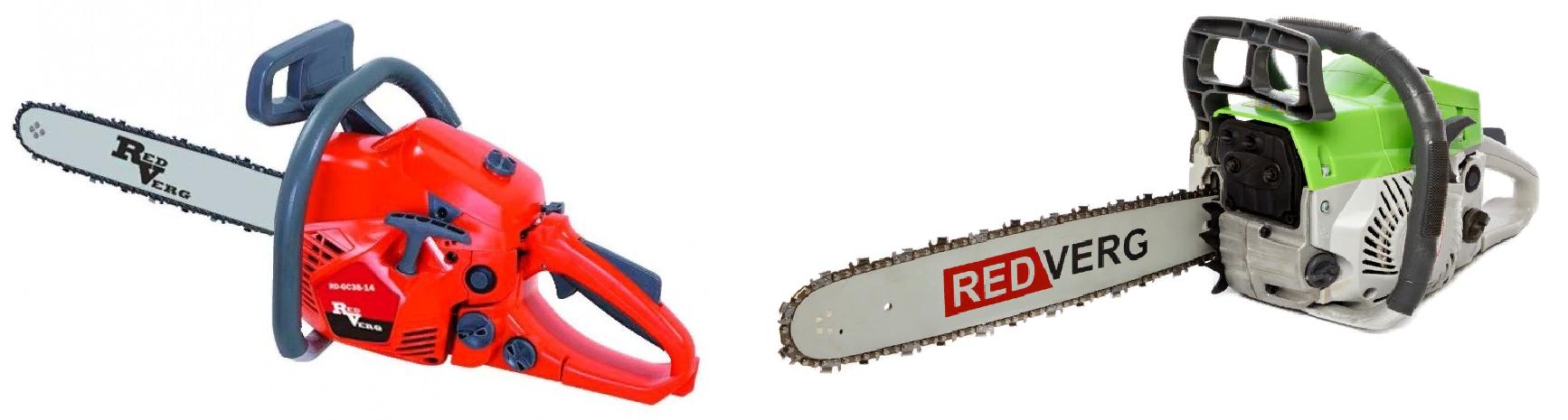 Бензопилы RedVerg RD-GC38-14 и RD-GC45-16 компактные модели для дома и дачи.