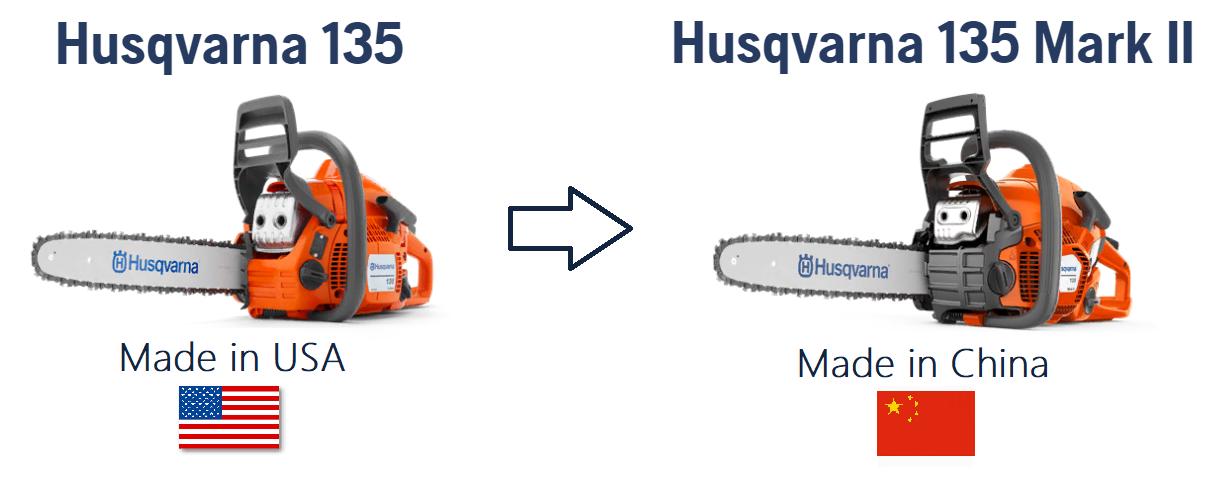 Страна поизводсвта Хускварна 135 Марк 2