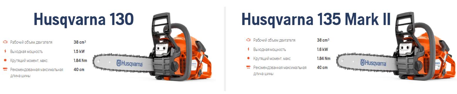 бензопилы Хускварна 130 и 135 MARK 2