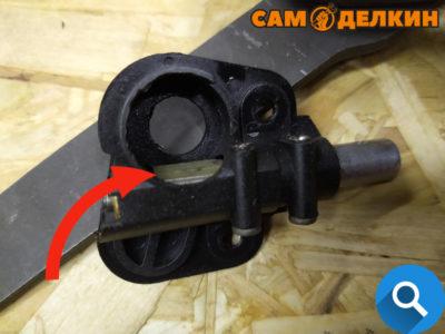 Ремонт Партнер 350 (351): Не подается масло на цепь. Фотоотчет