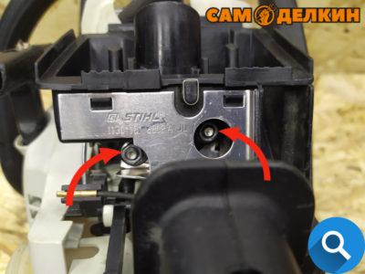 После этого устанавливаем адаптер воздушного фильтра. Фиксируем его двумя гайками (головкой на 8мм)