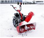 Чистка снега при подключении роторной насадки