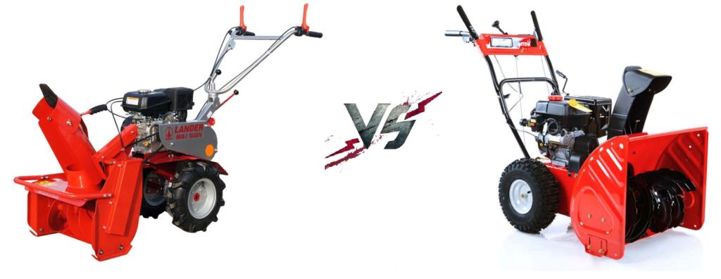 Снегоуборщик или насадка на мотоблок – что выбрать?