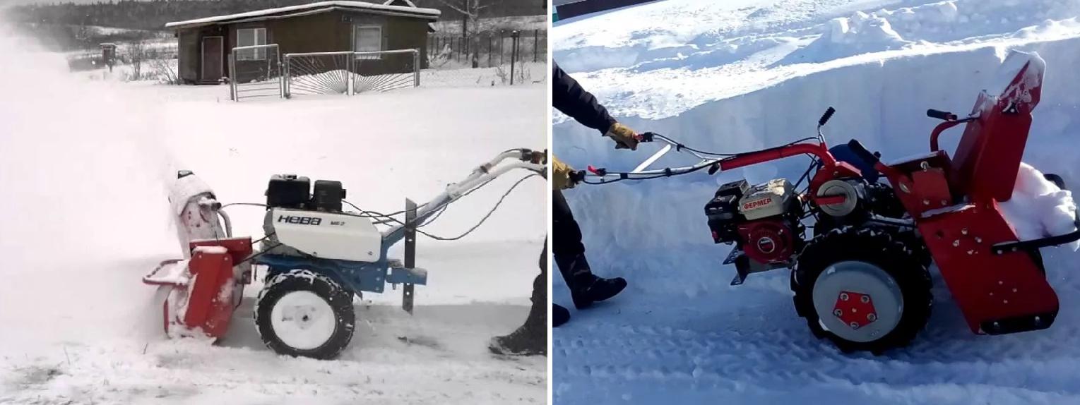 Область применения снегоуборщика на мотоблок